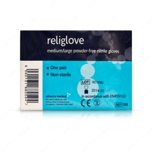 pair of nitrile gloves for first aid
