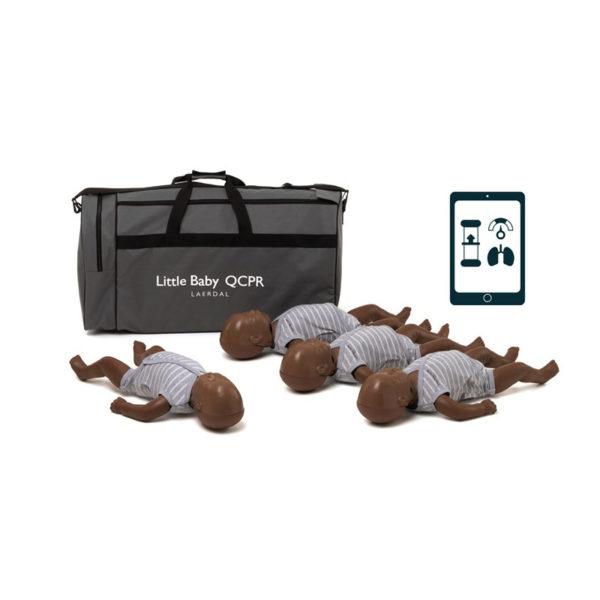 Laerdal Little Baby QCPR Pack of 4 Dark skin