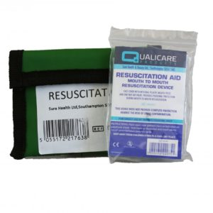 CPR Resuscitation Face Shield in Keyring Pouch