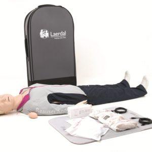 Laerdal Resusci Anne QCPR Full Body Manikin with Trolley Bag 171-01260