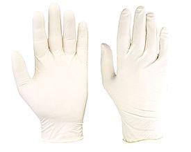 Latex Powdered Examination Gloves Medium ×100 Medical grade latex gloves. Powdered Box of 100 Medium