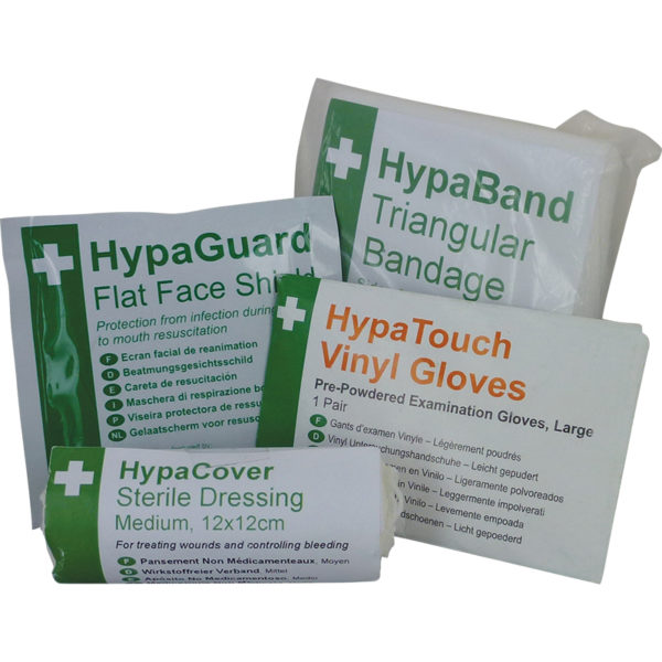 First Aid Training Pack with Gloves