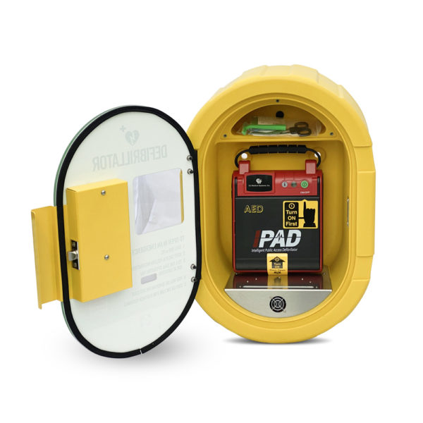 I-PAD SAVER NF1201 Fully-Automatic Defibrillator Outdoor Package Open