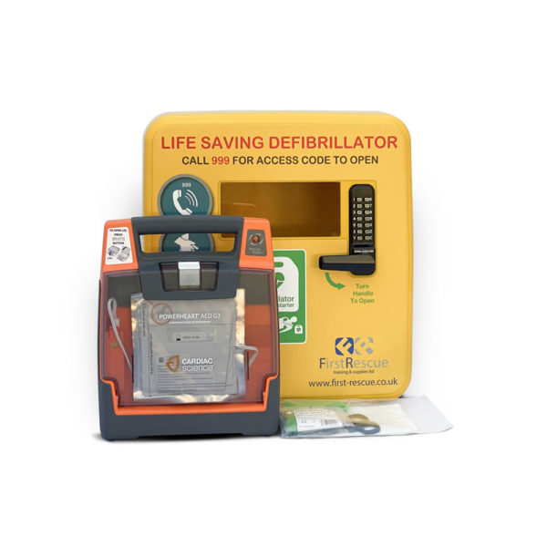 Cardiac Science Powerheart G3 Elite Fully Auto Defibrillator & Defibstore 4000 Package