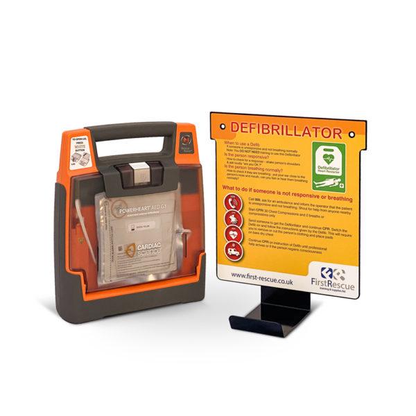 Cardiac Science Powerheart G3 Elite Fully Auto Defibrillator Wall Hanger Package