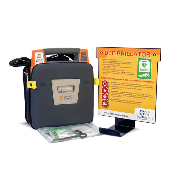 Cardiac Science Powerheart G3 Elite Fully Auto Defibrillator with Carry Case & Wall Hanger Package 2