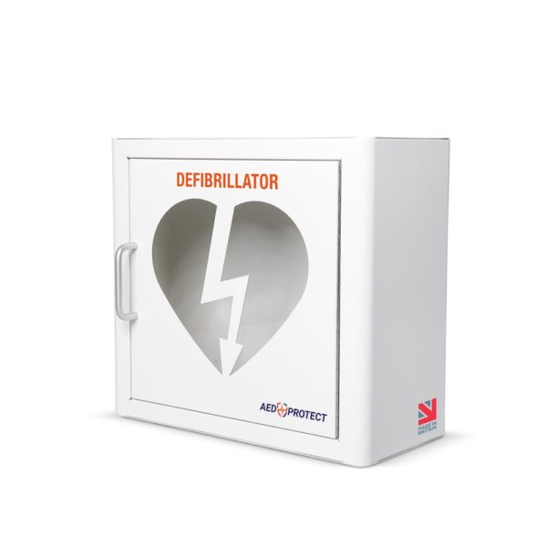 AED Protect Indoor White Cabinet with Alarm 4