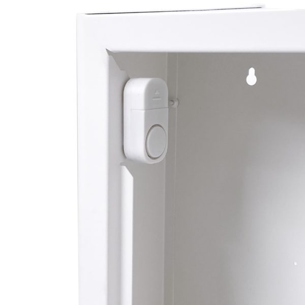 AED Protect Indoor White Cabinet with Alarm 9